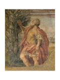 The Prediction of the Latin King at the Arrival of Aenea Giclee Print by Agostino Carracci