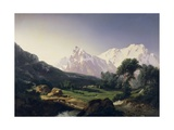 Alpine Peaks, Gressoney Valley Giclee Print by Giuseppe Camino