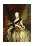 Portrait of Maria Josepha, Queen of Poland, Standing Three-Quarter Length Giclee Print by Louis de Silvestre