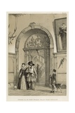Entrance to the Grand Staircase, Holland House, Kensington Giclee Print by Joseph Nash