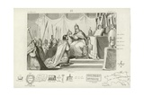 Coronation of Charlemagne as Holy Roman Emperor, Rome, 800 Giclee Print