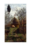 Haystacks Between Olive Trees Giclee Print by Giovanni Muzzioli