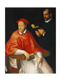 Portrait of a Cardinal and a Priest Giclee Print by Bartolomeo Cesi
