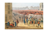 The Marche Des Innocents, Detail of the Left Hand Side, C.1794-1810 Giclee Print by Thomas Naudet