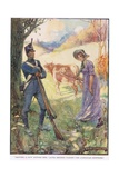 Driving a Cow before Her Laura Secord Passed the American Sentries Giclee Print by Joseph Ratcliffe Skelton