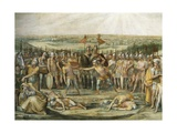 Combat Between the Horatii and Curiatii Giclee Print by Giuseppe Cesari