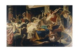 The Orgies of Messalina, 1867-1868 Giclee Print by Federico Faruffini