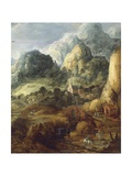 Mountain Landscape Giclee Print by Joos De Momper The Younger
