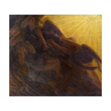Fall of Angels, Triptych, 1913 Giclee Print by Gaetano Previati