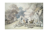 Going Out in the Morning, a Scene in Windsor Forest, C.1801 Giclee Print by Thomas Rowlandson