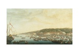 Procession of the Royal Ships at Posillipo, Naples Giclee Print by Pietro Fabris
