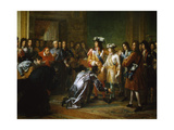 Recognition of Duke of Anjou as King of Spain Giclee Print by Francois Gerard