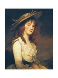 Portrait of Miss Constable, 1787 Giclee Print by George Romney