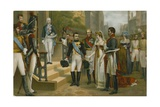 Napoleon Receiving Queen Louise of Prussia at Tilsit, 6 July 1807 Giclee Print by Nicolas Louis Francois Gosse