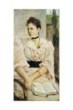 Portrait of Paola Bandini, 1893 Giclee Print by Silvestro Lega