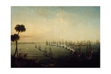 Battle of Nile, August 1, 1798 Giclee Print by Nicholas Pocock