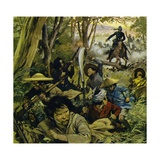 Gordon Was Sent to China, Where Guerilla Warfare Was a Daily Risk Giclee Print by Alberto Salinas