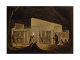 Inside Catacombs of Alexandria, Engraving Giclee Print by Luigi Mayer