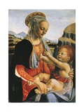 Madonna and Child, Circa 1470 Giclée-tryk af Andrea del Verrocchio