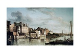 The Thames at Old Montagu House Giclee Print by Samuel Scott