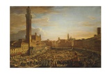 Walk of the Palio of August 18, 1833 Giclee Print by Francesco Nenci