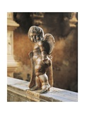 Cherub Coat-Of-Arms Holder Giclee Print by Agostino Di Duccio