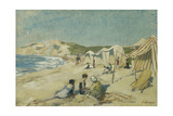 The Beach at Pointe St Gildas; La Plage a La Pointe St Gildas, C.1920 Giclee Print by Henri Lebasque