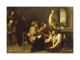 Birth of St. John the Baptist, 1633-1635 Giclée-tryk af Artemisia Gentileschi