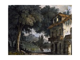 Set Design of Adinas' Farmhouse Giclee Print by Alessandro Sanquirico