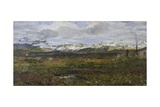 Landscape on Maloja or Return to His Hometown, 1895 Giclee Print by Giovanni Segantini
