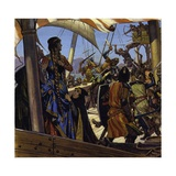Greek Sailors Boarded Eleanor's Ship and Took Her Prisoner Giclee Print by Alberto Salinas