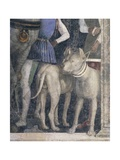 Molossian Dogs, Detail from Meeting Wall Giclee Print by Andrea Mantegna