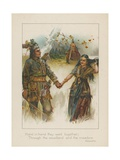 Hand in Hand They Went Together, Through the Woodland and the Meadow Giclee Print by Henry Marriott Paget