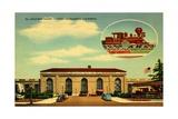 Southern Pacific Station, Sacramento, California, 1935 Giclee Print