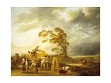 Four Hours of Day: Vespers, 1774 Giclee Print by Louis Joseph Watteau