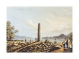 The Remains of the Temple of Hera in Samos, 1803 Giclee Print by Luigi Mayer