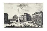 The Papal Palace on Quirinale Hill Giclée-Druck von Giuseppe Vasi
