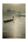 From Waterloo Bridge: Sun Bursting Through Fog, C.1924 Giclee Print by Christopher Richard Wynne Nevinson
