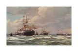 Coronation Review of King Edward VII, Spithead, 1902 Giclee Print by Eduardo de Martino
