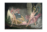 Satan Tempts Eve in the Dream, Paradise Lost by John Milton Giclee Print by John Martin