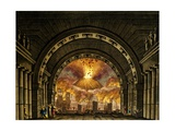 Set Design of Eruption of Vesuvius Giclee Print by Alessandro Sanquirico