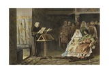 Melis Stoke at the Court of Count John II of Holland Giclee Print by Willem II Steelink