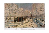 The French Retreat from Moscow in October 1812, C.1888-95 Giclee Print by Vasili Vasilievich Vereshchagin