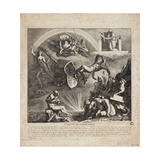 The Fall of Napoleon - Cartoon of the Fall of Italy, 1814 Giclee Print