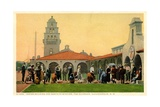 Indian Building and Santa Fe Station, Albuquerque, New Mexico, C.1920-30 Giclee Print