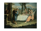 Abraham Receives Announcement of Birth of Isaac Giclee Print by Francesco Fontebasso