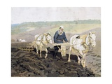 Leo Tolstoy Working in Field, 1887 Giclee Print by Ilya Efimovich Repin