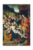 Lamentation of Dead Christ on Cross Giclee Print by Giuseppe Giovenone