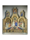 Coronation of the Virgin, 1414 Giclée-tryk af Lorenzo Monaco