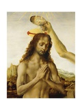 Baptism of Christ, 1475-1478 Giclée-Druck von Andrea del Verrocchio